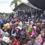 Petani Senyerang melakukan aksi pendudukan lahan di kanal 15 di areal yang dirampas PT. WKS.