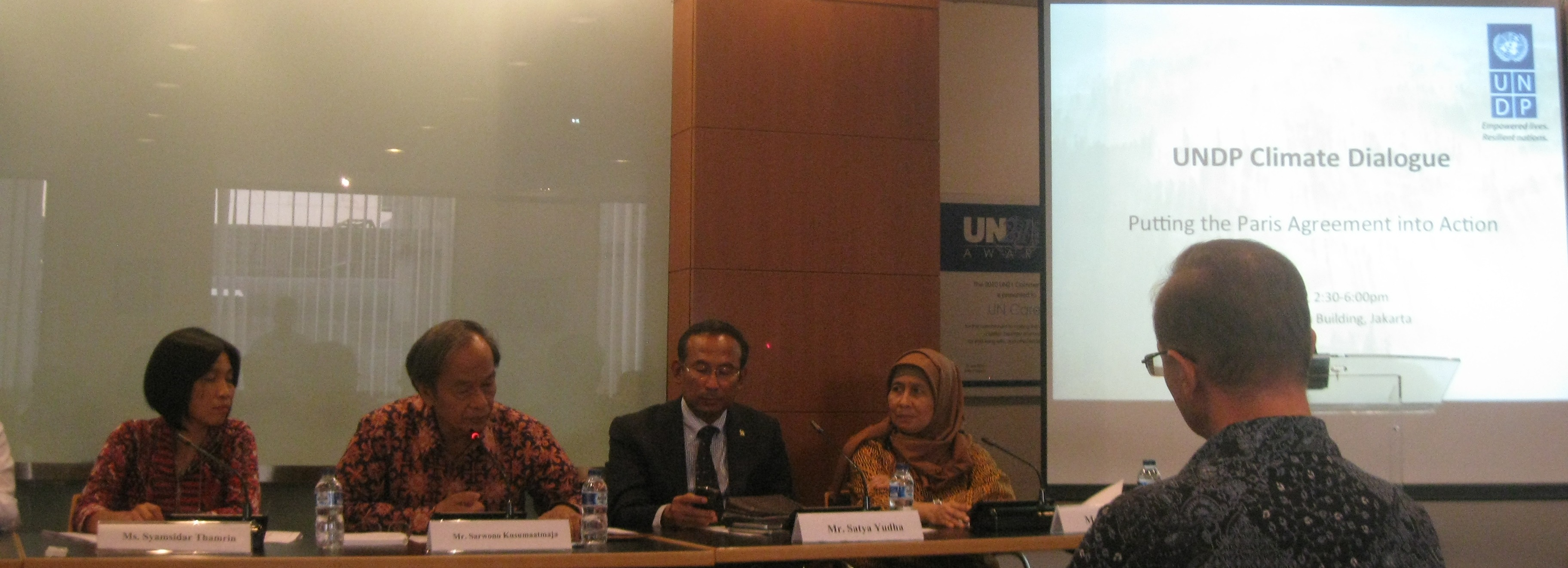 Putting the Paris Agreement into Action (Dialog Iklim UNDP, Jakarta, 08/06/2016)