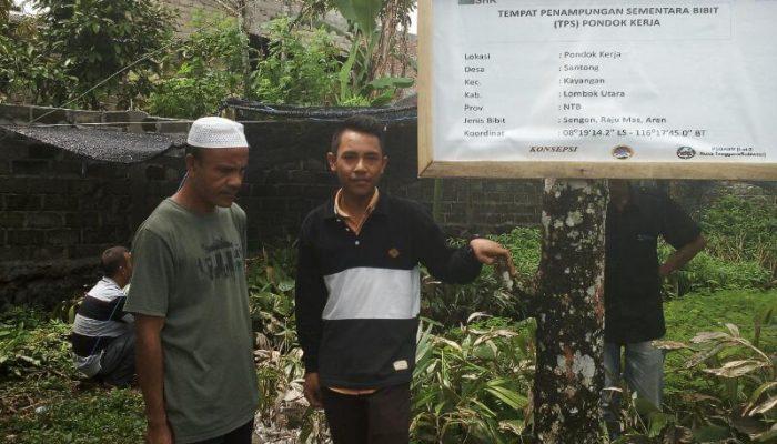 H. Artim Ketua Kelompok HKm Santong di Pondonk Kerja TPS Santong Lombok Utara