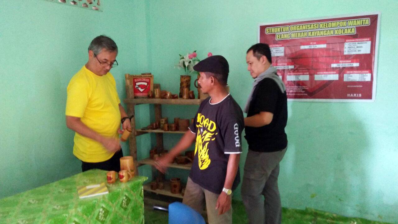 Kunjungan Tim Monev GPM MCA-Indonesia ke Kelompok Wanita Tani Kelurahan Sakuli, Kolaka, Sulawesi Tenggara. (23/10/2017).