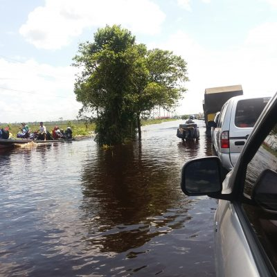 Foto KPSHK. Banjir di Tiawu Desa Bukit Rawi Kec. Kahayan Tengah Kab. Pulang Pisau (30/04/2018).