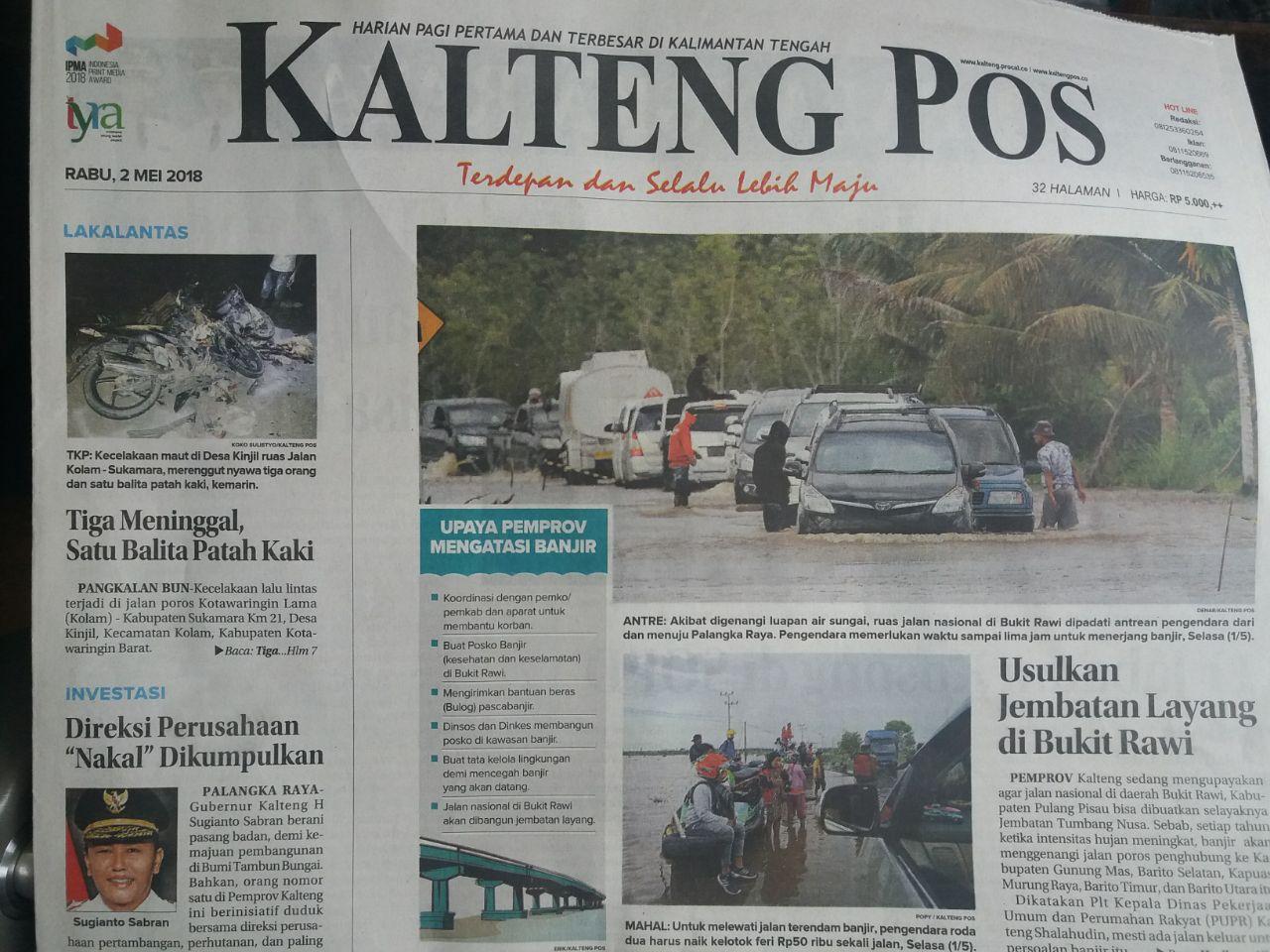 Berita Kalteng Pos (01/05/2018)