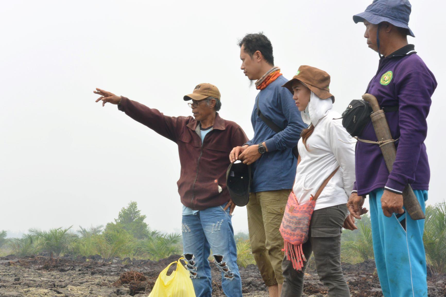 Foto KPSHK. Batas Kanal dan Sekat Bakar Perusahaan di Desa Kalumpang (Sept'18).