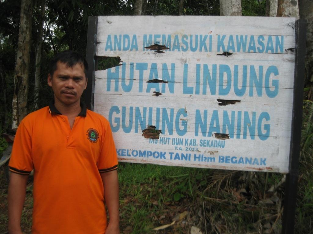 Agus Aswandi Ketua HKm Beganak, Dusun Meragun, Desa Meragun, Kecamatan Nanga Taman, Kabupaten Sekadau, Kalimantan Barat (Foto Ari-Niko/KpSHK-IMP)