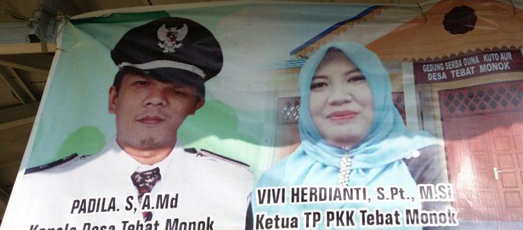 Padila Sandi, A.Md. Kepala Desa Tebat Monok (Foto KpSHK)